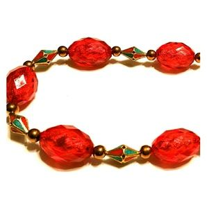 Holidaze Red Beadeded Necklace